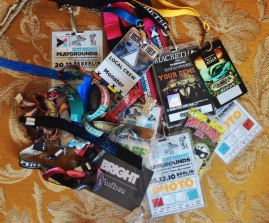 Collect wristbands & crew cards of Festivals & Events